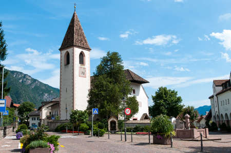 meran: The main square of the village the bell tower