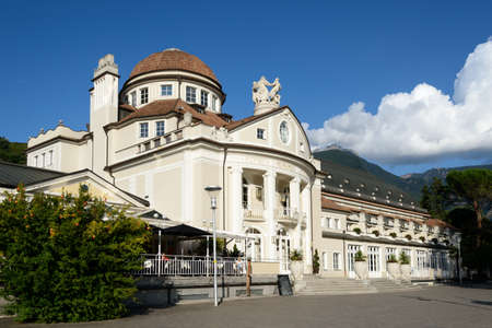 meran: The Kurhaus is a landmark in Merano - Meran, South Tyrol, Italy