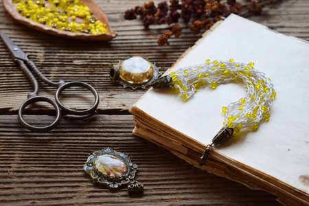 Making the crochet bracelet with beads. Needlework accessories for creating crocheted jewelry. Step 3 - finished bracelet or chain. DIY project. Small business. Income from hobby.