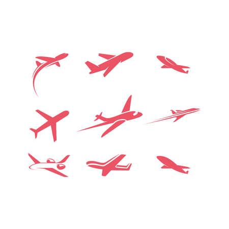 Airplane icon Template Design Vector