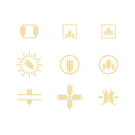 Agriculture wheat Logo Template vector icon design. Vector illustration