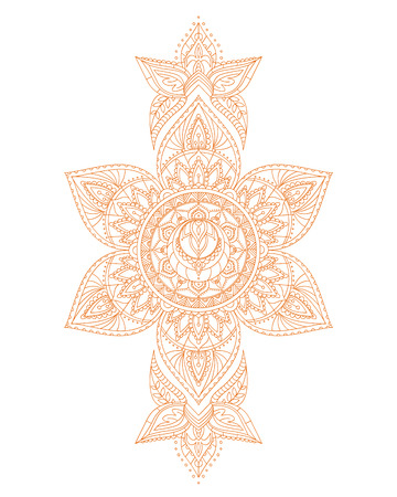 Svadhisthana Sacral Yoga Chakra Mandala. Stock Illustratie