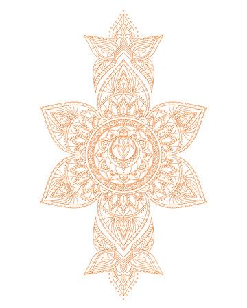 sacral: Svadhisthana Sacral Yoga Chakra Mandala. Illustration