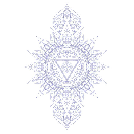 vishuddha: Chakra Vishuddha for Henna Tattoo and for Your Design. Vector illustration Illustration
