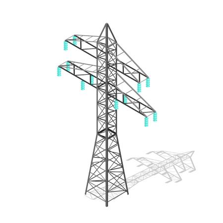 pylon: High Voltage Power Pylon. Transmission Tower. Vector illustration