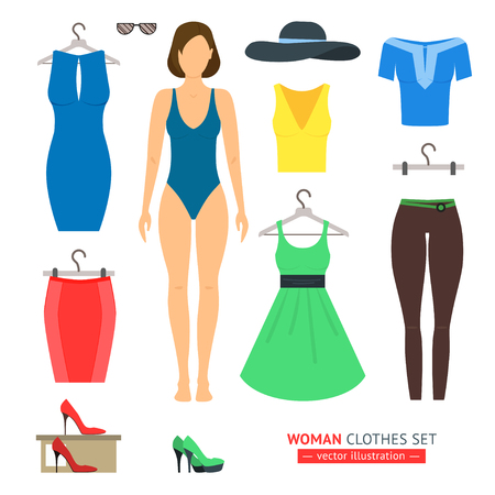 urban fashion: Girl or Woman Clothes Set. Urban Fashion.