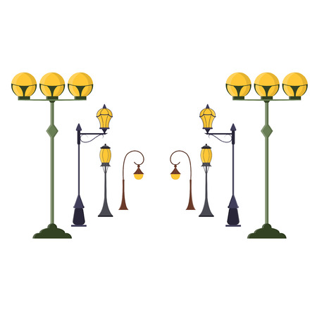 691 Lamp Pole Stock Illustrations, Cliparts And Royalty Free Lamp ...