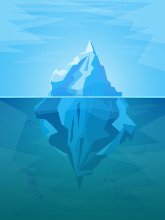 tip of iceberg: Cartoon Iceberg. Vector Illustration