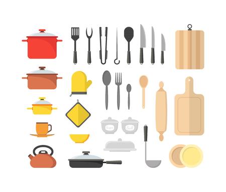 Cartoon Cookware Set. Vector