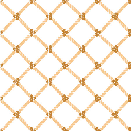 Nautical Rope Background Pattern. Vector Stock Photo