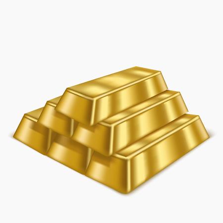 Realistic Gold Bars or Bullion. Vector