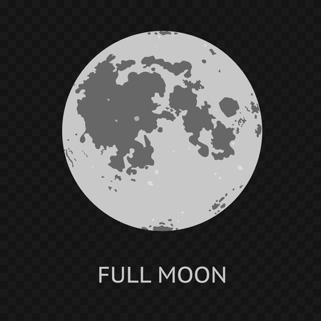 Full Moon. Vector