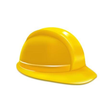 yellow helmet: Realistic Yellow Helmet or Hat. Vector Illustration