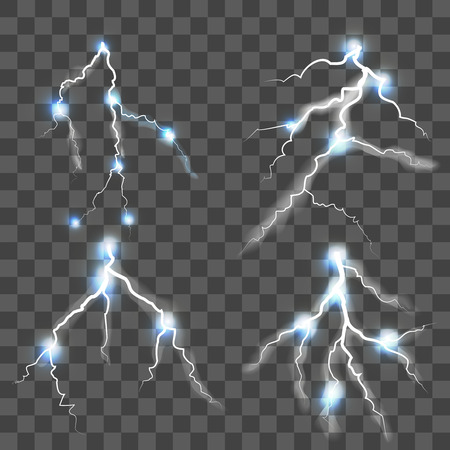Lightning Set Vector Illustration