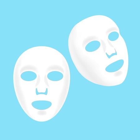 Ensemble de masque de feuille facial cosmétique. Vecteur