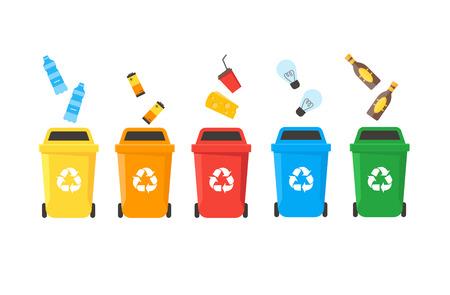 Recycle Bins Set. Vector