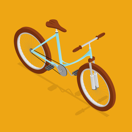 spoke: Bike retro isometric view.