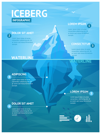 Iceberg Infographic Menu. Vector Illustration