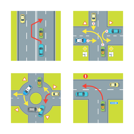 Traffic Conditions Set. Vector Illustration