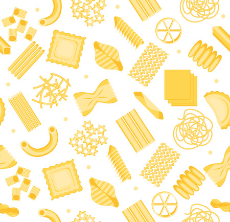 Pasta Pattern Background. Vector