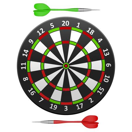 Realistic Detailed Dart Board.