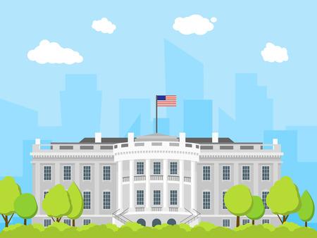 Cartoon White House Building. Vector 版權商用圖片 - 77770092