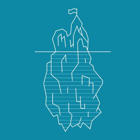 Iceberg Line Style. Vector