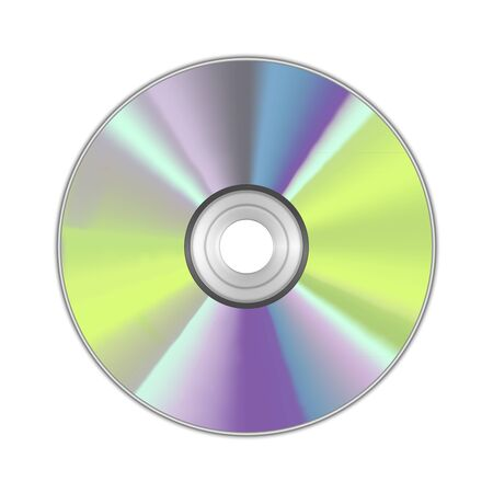 Realistic Detailed Round CD Disk. Vector Illustration
