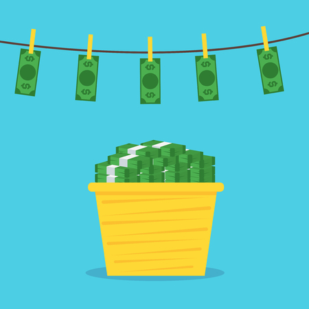 Money Laundering Concept. Vector
