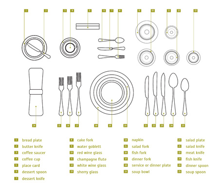 Table Setting Place Formal. Vector