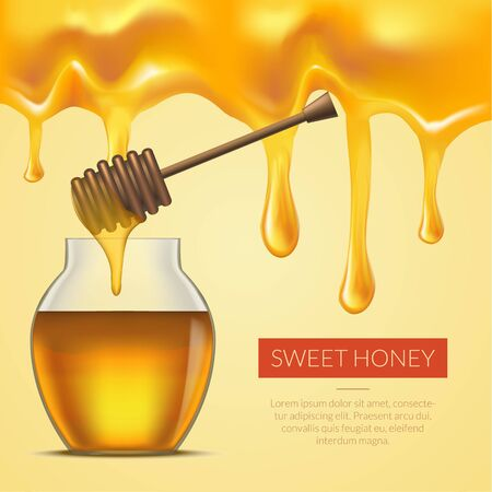 Honey Melted Background. Vector Stock Photo