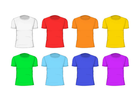 Man T-shirt Cotton Clothing. Vector