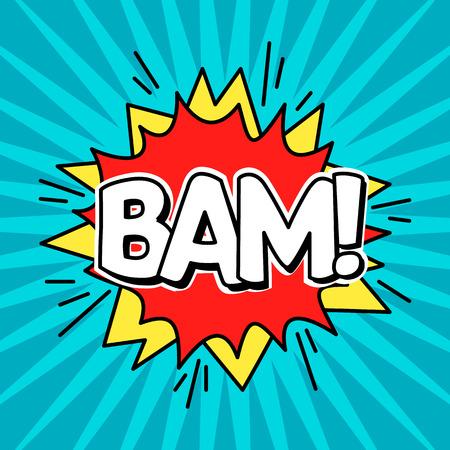 Comic Speach Bubble Effect Bam. Vector