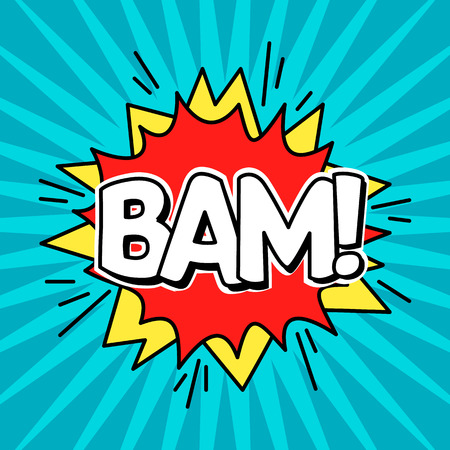 Comic Speach Bubble Effect Bam. Vector 版權商用圖片 - 84813391