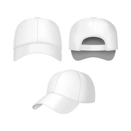 White baseball caps icon. Иллюстрация