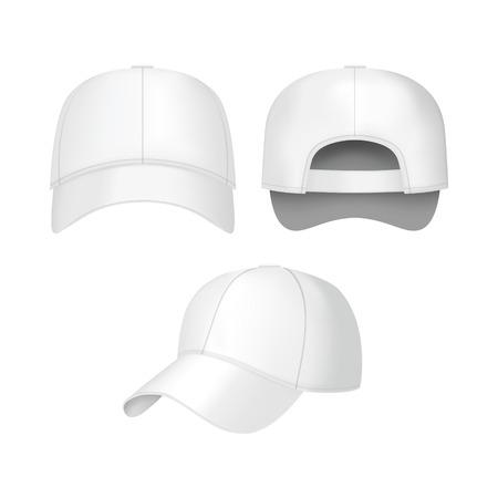 White baseball caps icon. Illusztráció