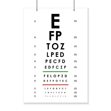 Poster Card of Vision Testing Vettoriali