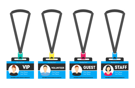 505 Visitor Pass Stock Vector Illustration And Royalty Free Visitor ...