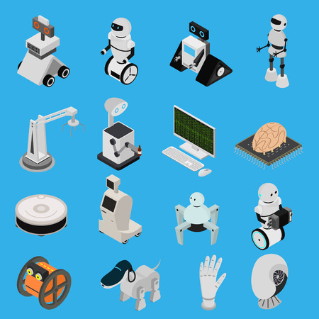 Smart Technologies Devices Icons Set Isometric View. Vector
