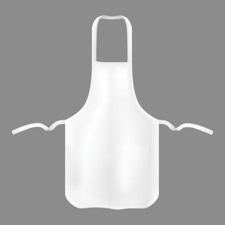 Realistic Detailed 3d Kitchen Cotton Apron. Illustration