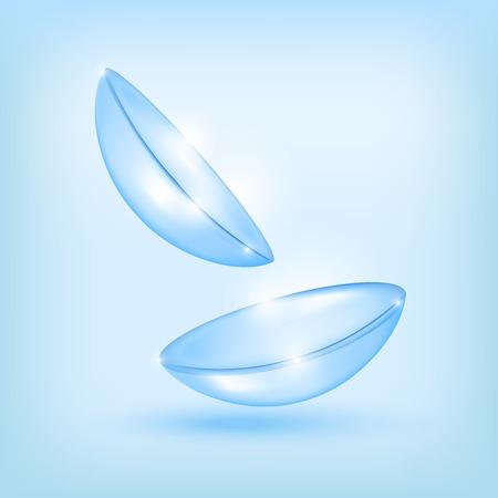 Realistic Detailed 3d Contact Lenses Set. Vector Çizim