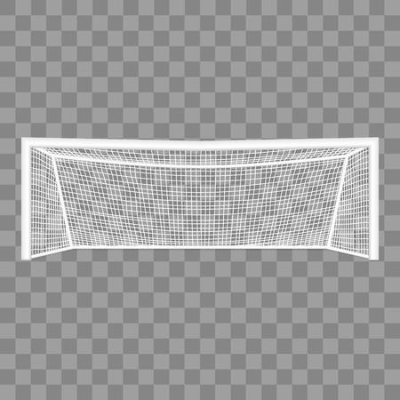 Vettore dettagliato realistico di obiettivo di calcio 3d