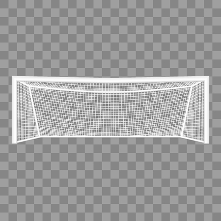 Realistic Detailed 3d Football Goal vector