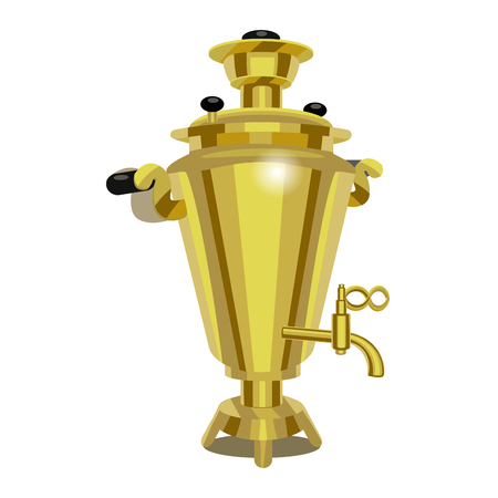 Realistic Detailed 3d Russian Samovar. Vector