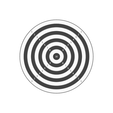 Board Target. Vector illustration isolated on white background.