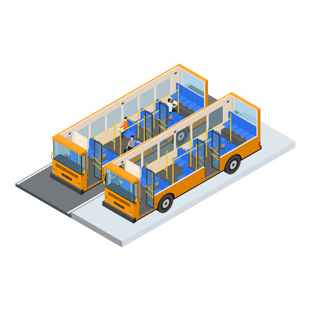 Auto bus and Elements Part Isometric View.