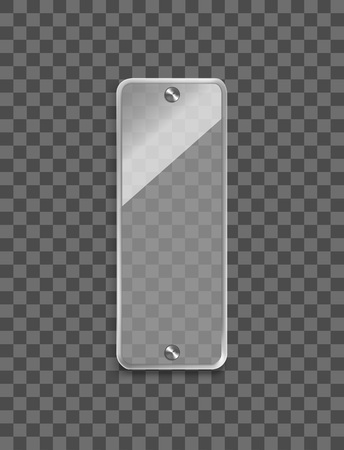 Realistic 3d Glass Frame on a Transparent Background. Vector