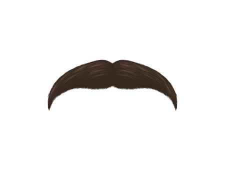 Realistic Detailed 3d Black Fake Mustache. Vector