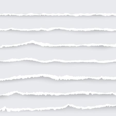 Cartoon Torn Paper Set. Vector