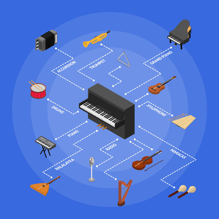 Musical Insrtuments Concept. Vector
